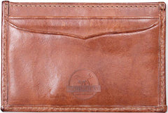 Classic Leather: Card Wallet - Brown