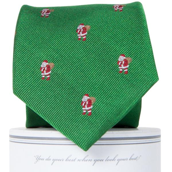 Boys Classic Santa Tie Boys Ties - Collared Greens American Made