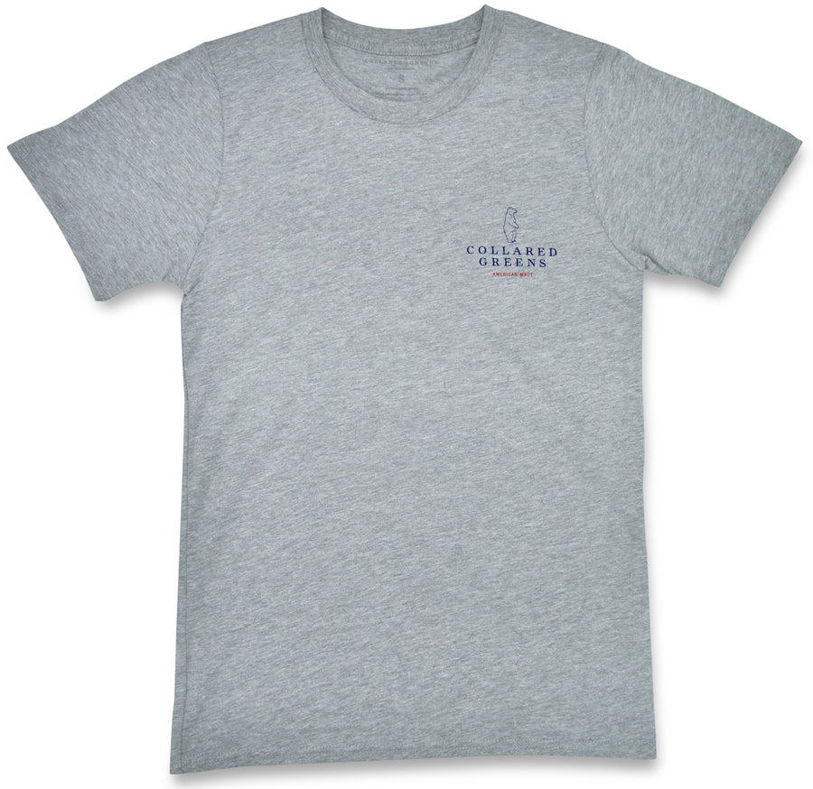 Canine Caddy: Short Sleeve T-Shirt - Gray (Small & Medium)