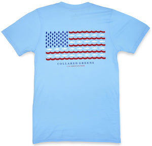 Trout Flag: Short Sleeve T-Shirt - Carolina