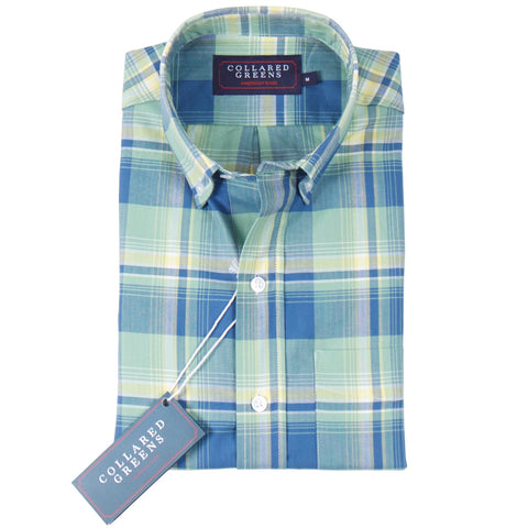 American Made Collared Greens Ellwood Twill Button Down Shirt Tailored Fit Green