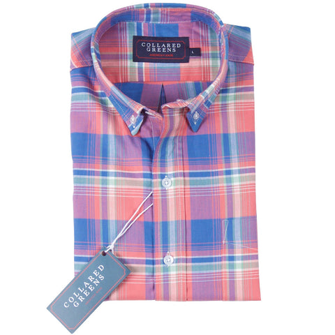 The Ellwood Button Down Shirt Salmon