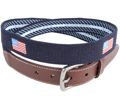 American Flag Embroidered Belt