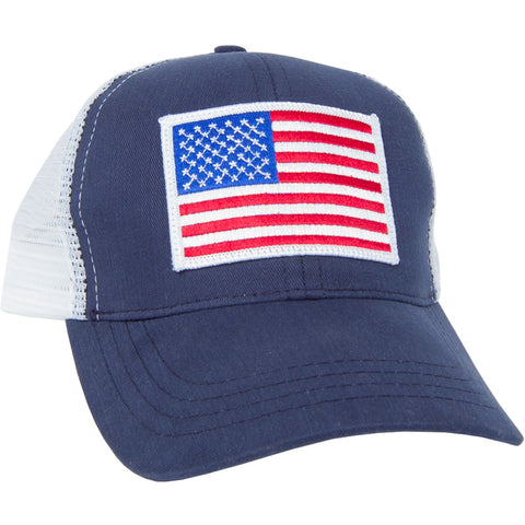 USA Trucker Patch Hat Navy/White
