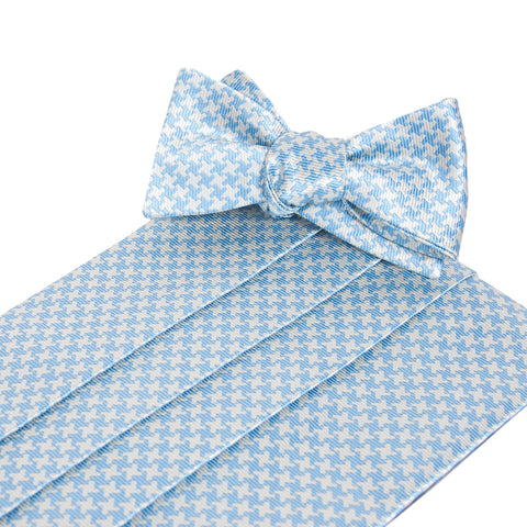 Gatsby Carolina Cummerbund and Bow Tie Set