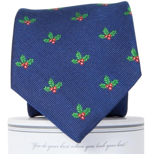 Boys Holly Jolly Tie Boys Ties - Collared Greens American Made