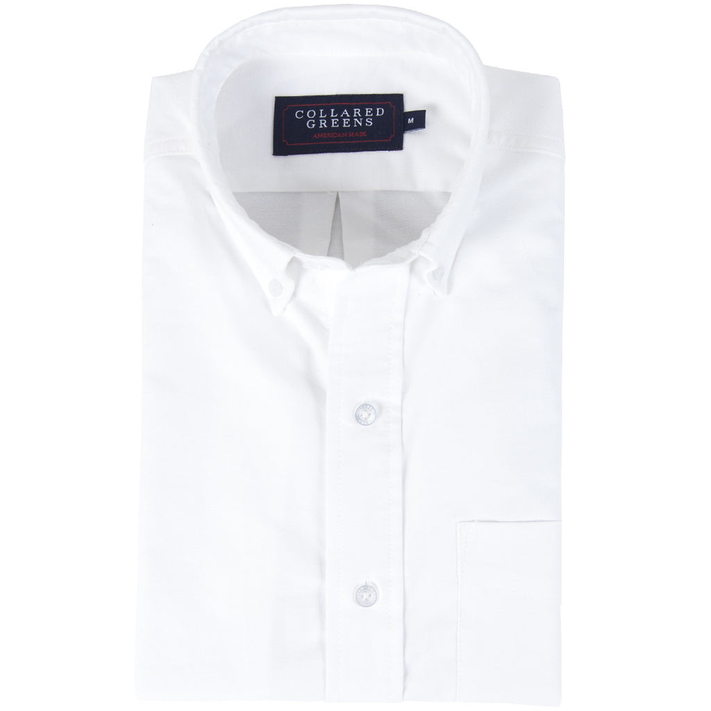 American Made Jefferson White Oxford Button Down Tailored Fit