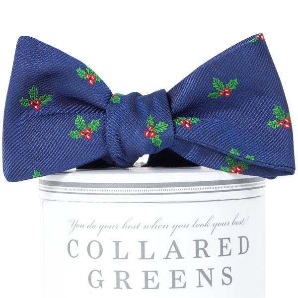 Boys Holly Jolly Bow Tie Boys Bow Ties - Collared Greens American Made