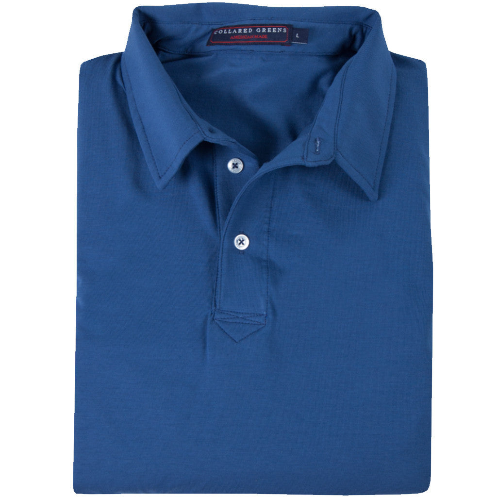 The Jones Men's Performance Polo Dusk - Collared Greens
