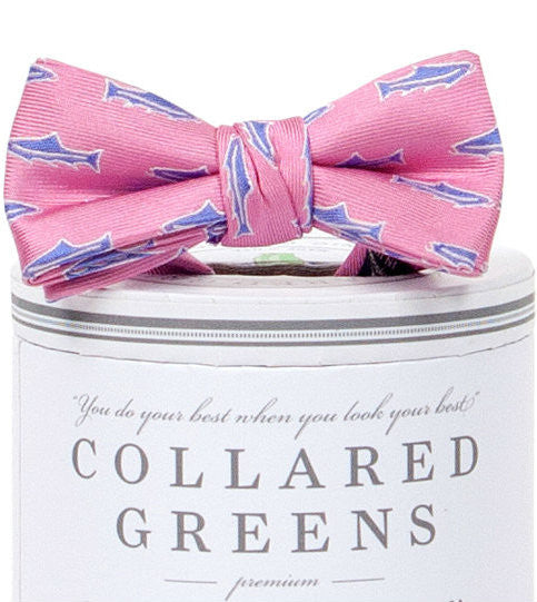 Boys Trout Bow Tie Pink