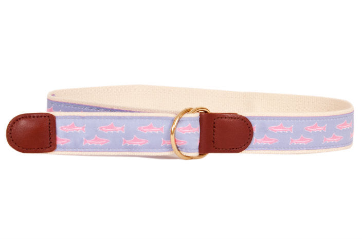 Kids Trout Belt Sky American Made Boys Belts - Collared Greens American Made