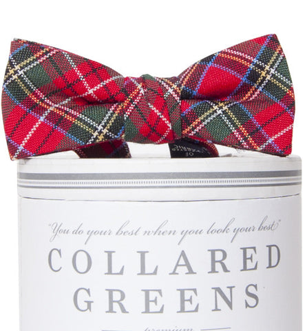 Boys Prince of Wales Bow Tie Boys Bow Ties - Collared Greens American Made