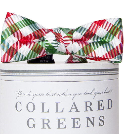 Boys Christmas Quad Bow Tie Boys Bow Ties - Collared Greens American Made
