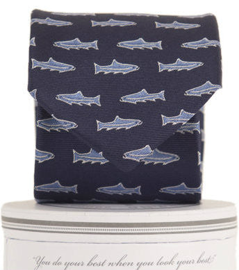 Boys Trout Tie Navy