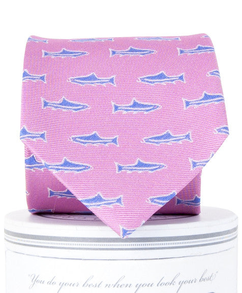 Boys Trout Tie Pink