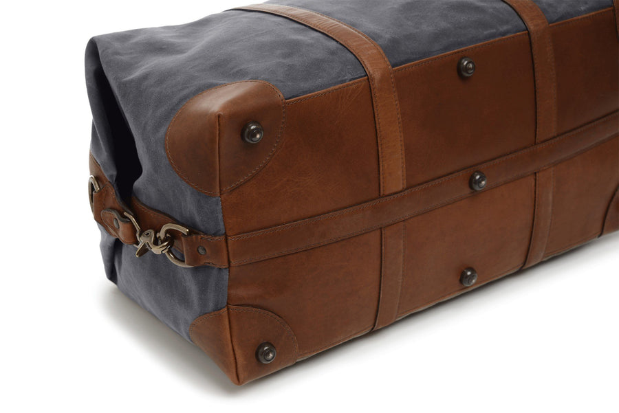 Twain: Duffel - Waxed Canvas - Cobalt