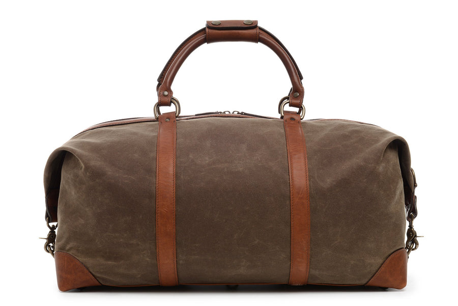 Twain: Duffel - Waxed Canvas - Olive
