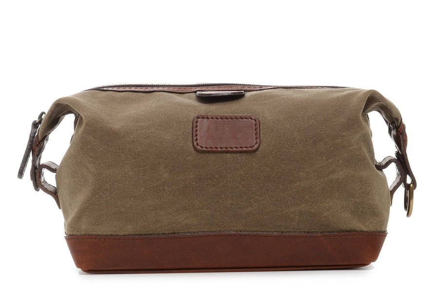 Ryder: Dopp Kit - Waxed Canvas - Olive