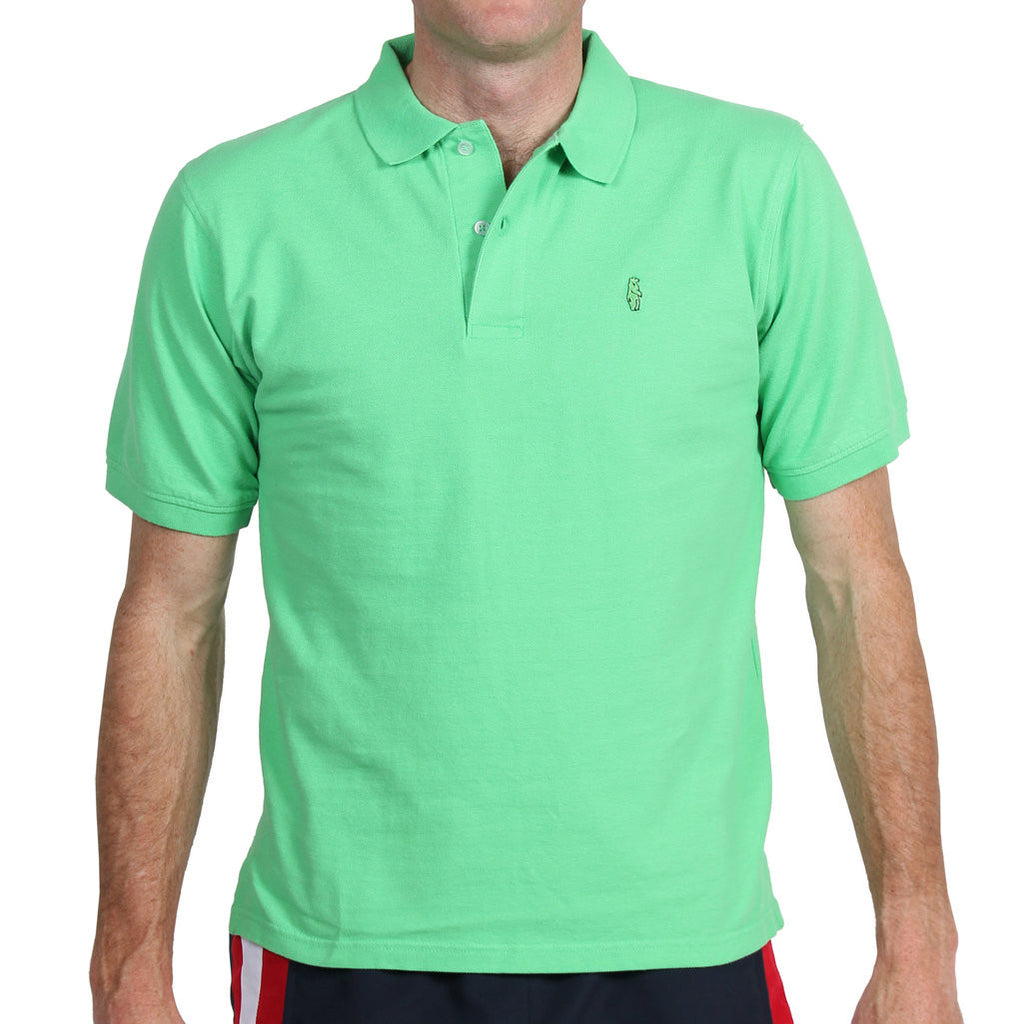 Home Grown Polo Meadow Green Polos - Collared Greens American Made
