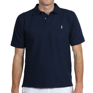 Home Grown Polo Navy Polos - Collared Greens American Made
