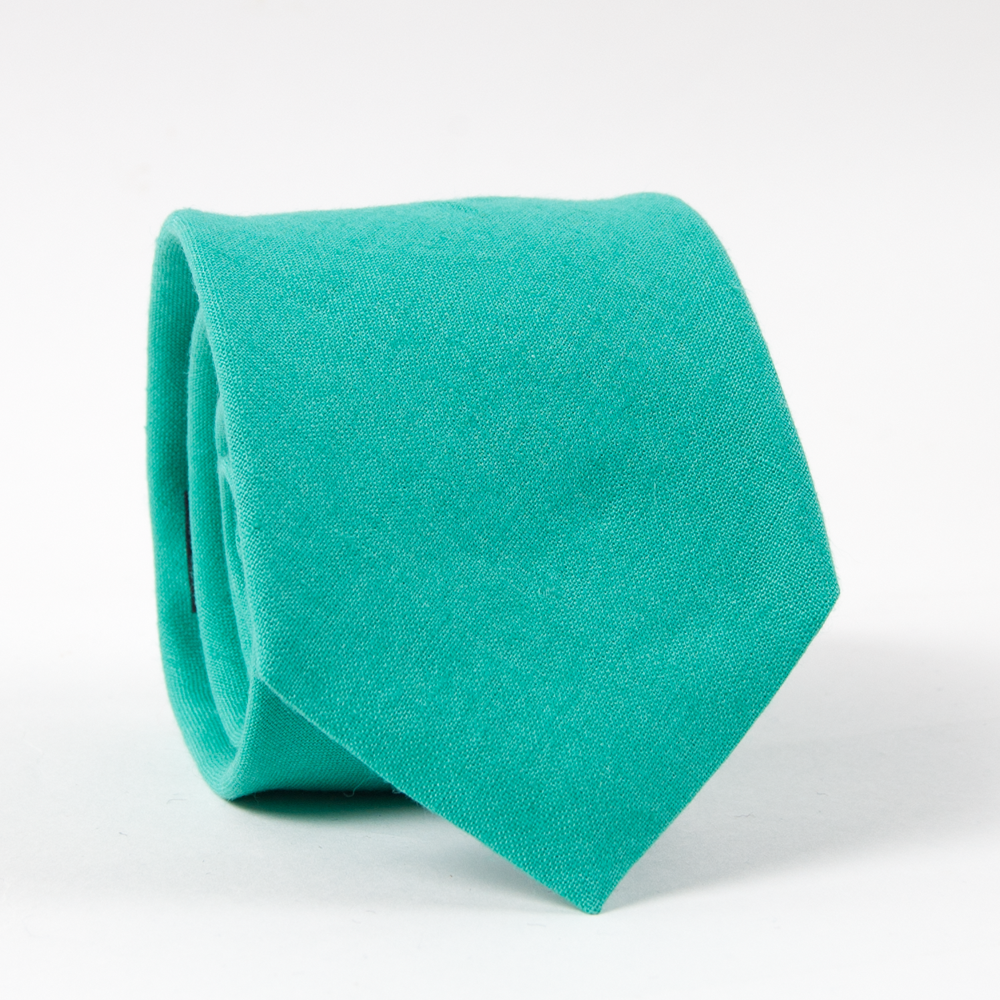 Linen Tie Ties - Collared Greens American Made
