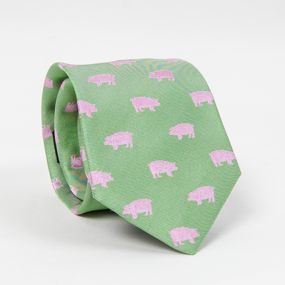 Pigs Tie Ties - Collared Greens American Made
