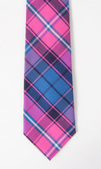 Spyglass Plaid Tie Pink/Blue - Collared Greens