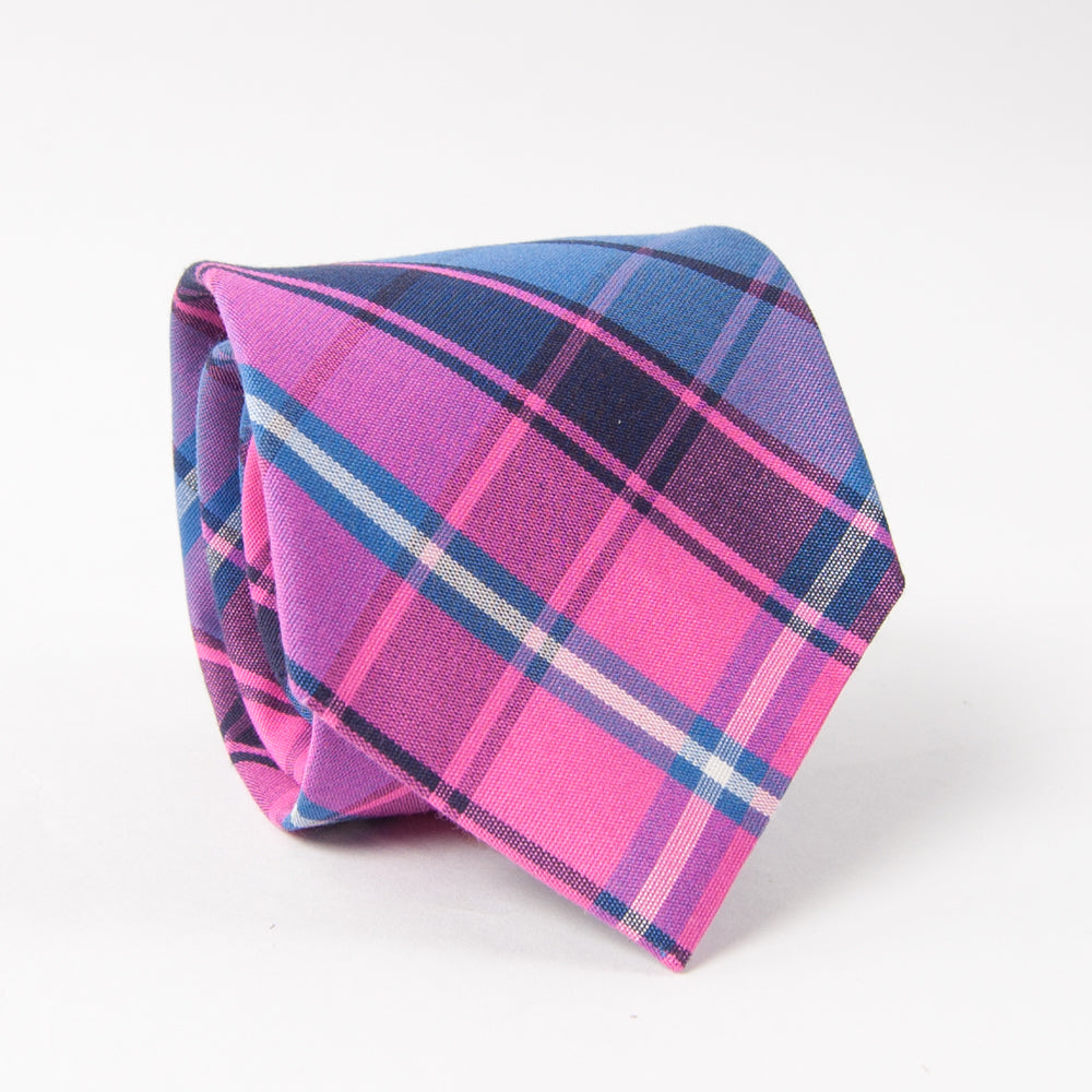40830a65b59c Spyglass Plaid Tie Pink/Blue - Collared Greens
