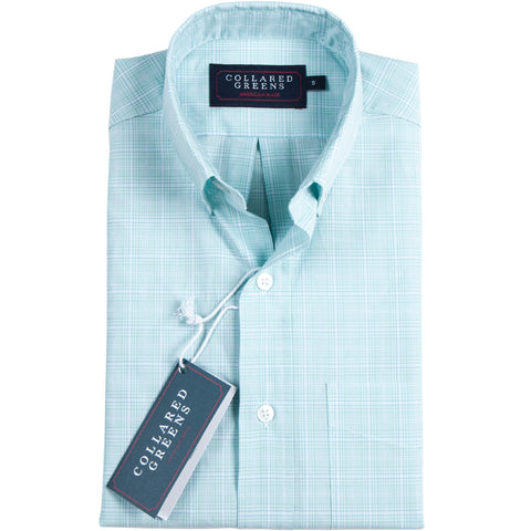 The Maymont Button Down Green - Collared Greens