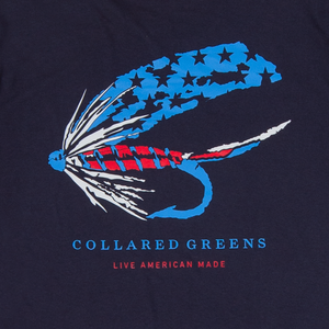 Old Glory Fly Short Sleeve T-Shirt Short Sleeve T-Shirts - Collared Greens American Made