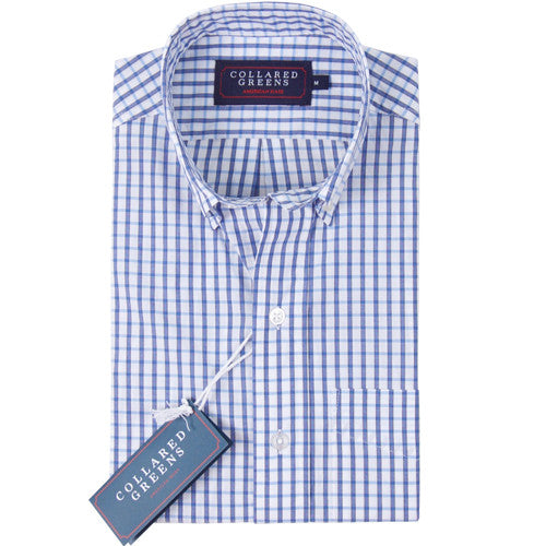 The Perry Button Down Shirt Navy/White