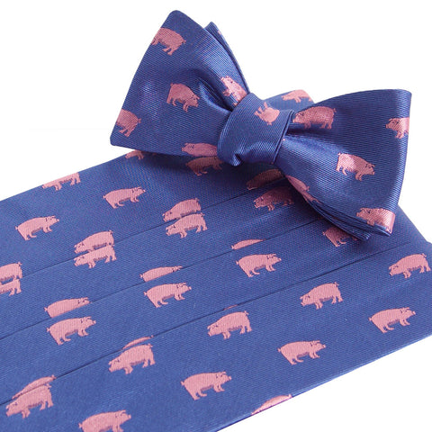 Pigs Royal Cummerbund and Bow Tie Set