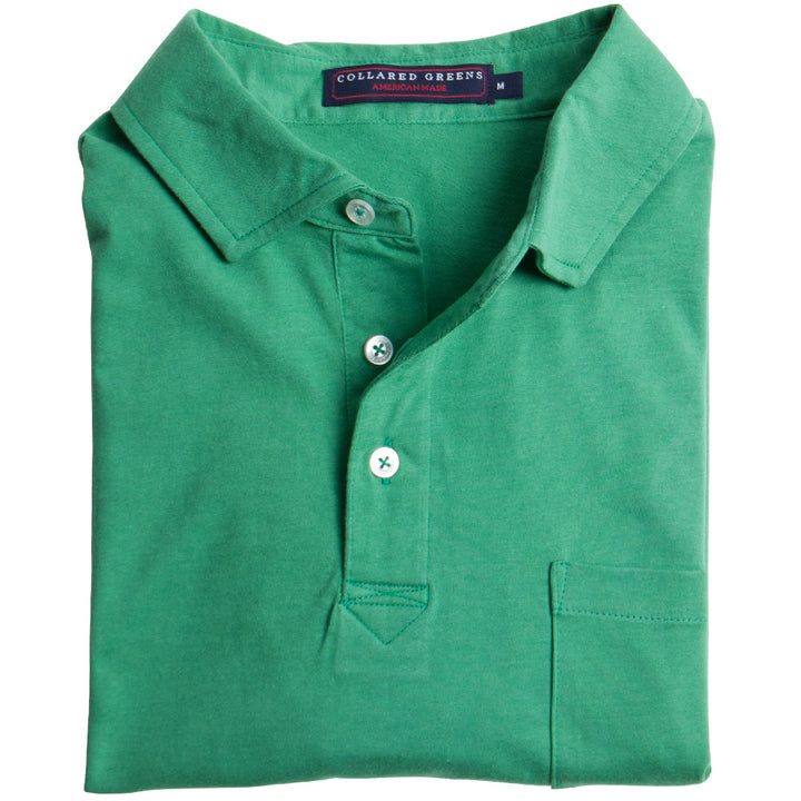 Jersey Polo Green Polos - Collared Greens American Made