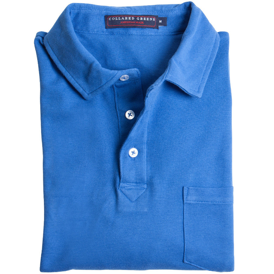 Micro Pique Polo Royal Blue Polos - Collared Greens American Made