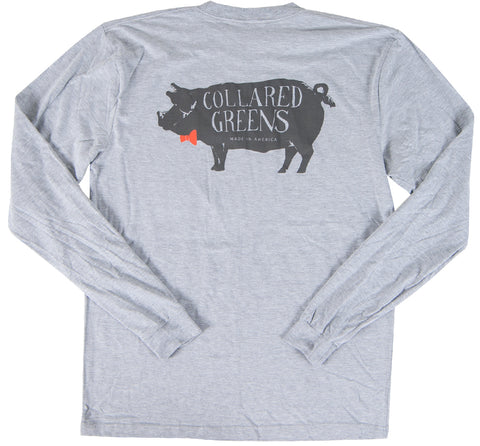 Porky Long Sleeve T-Shirt Long Sleeve T-Shirts - Collared Greens American Made