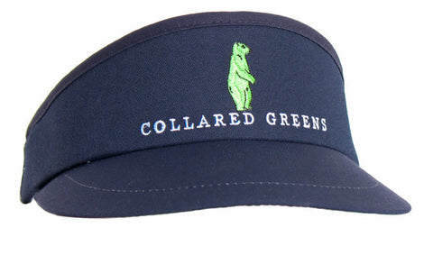 Collared Greens Pro Tour Visor Navy