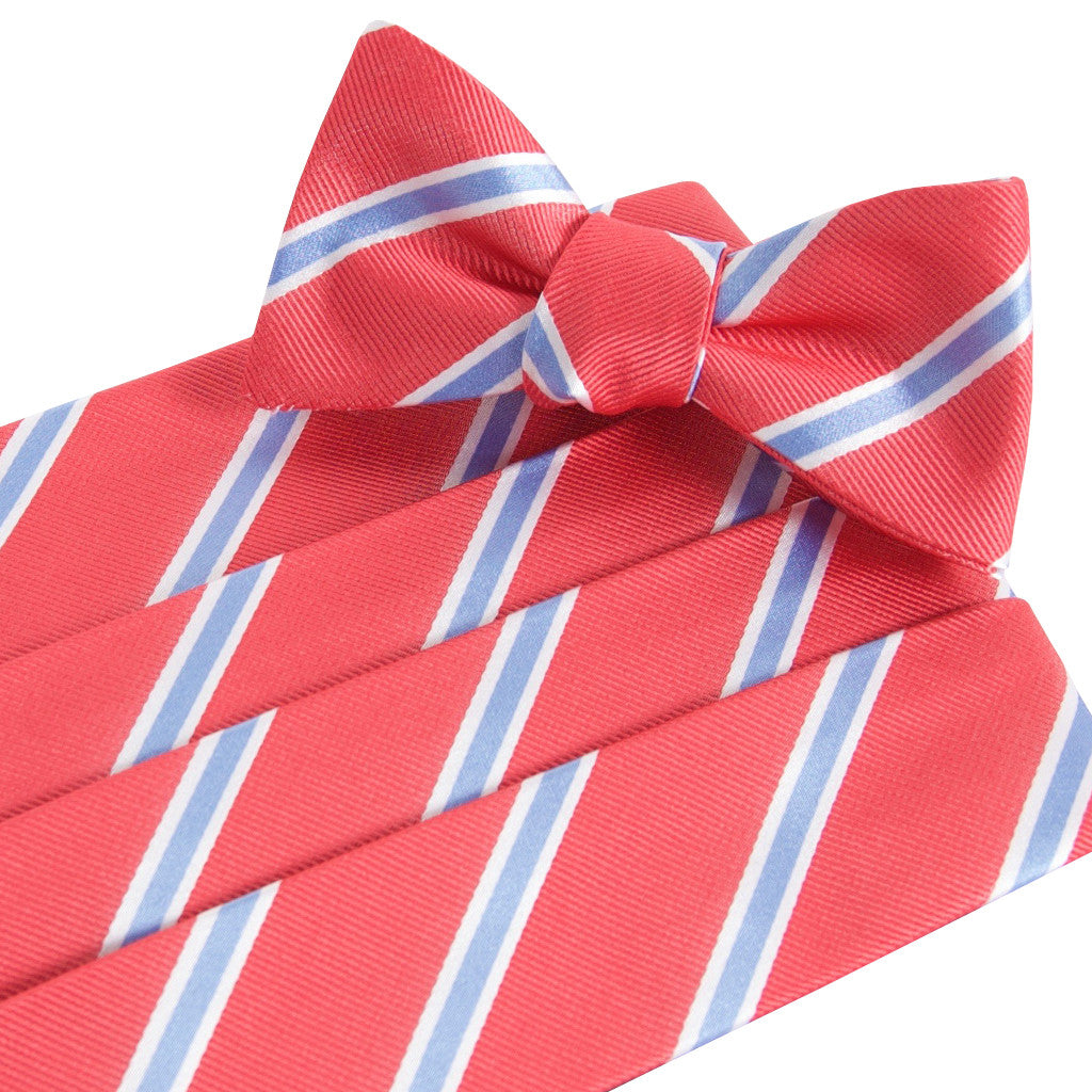 James Red Cummerbund and Bow Tie Set