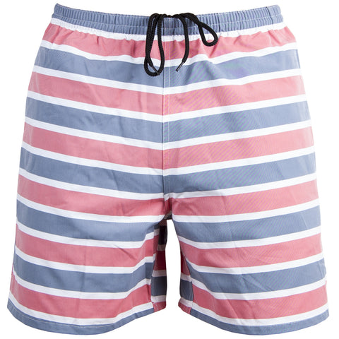 All Day USA Swim Trunks Stripes Blue/Red