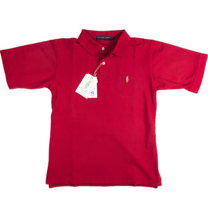 Home Grown Polo Red Polos - Collared Greens American Made