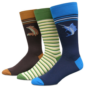 Armadillo Crossing: Socks - Heather Blue
