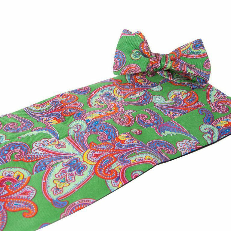 Wood Green Cummerbund and Bow Tie Set - Collared Greens