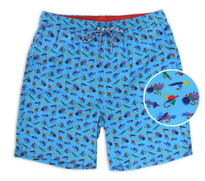 Let It Fly: Swim Trunks - Light Blue