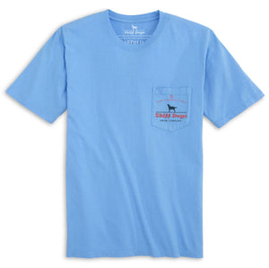 Skiff Dogs: Short Sleeve T-Shirt - Light Blue