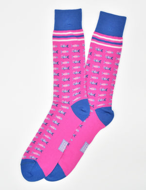 Great Catch: Socks - Fuchsia