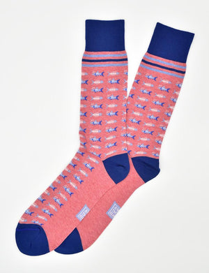 Catch of the Day: Socks - Heather Coral