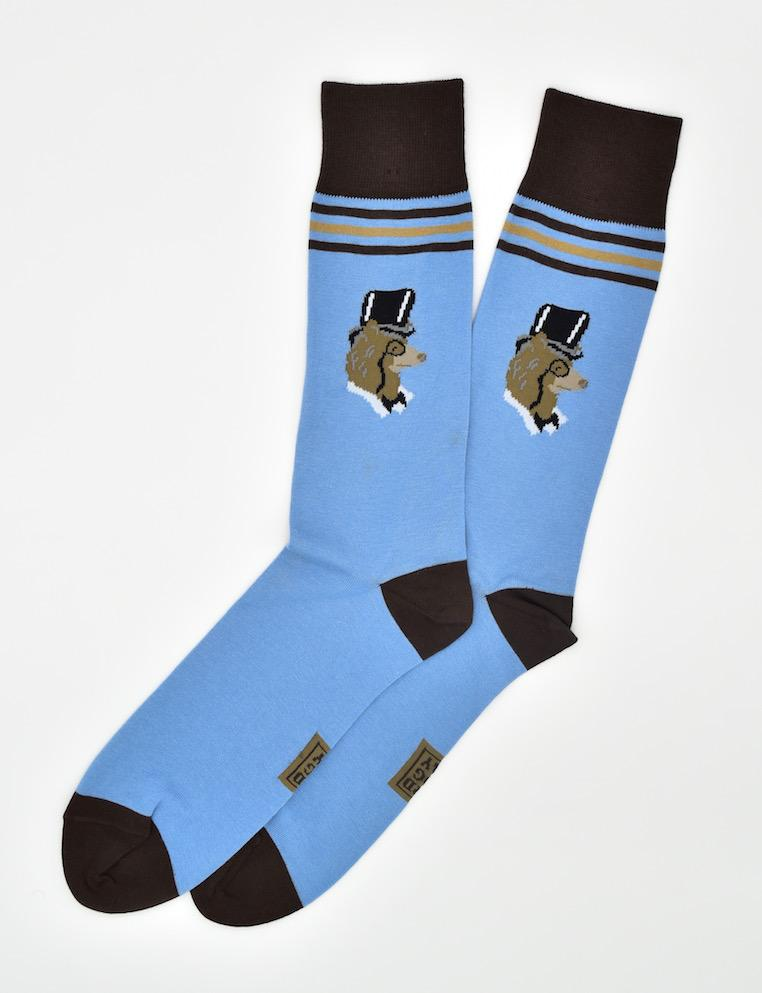 High Roller Bear: Socks - Blue