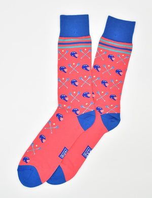 Lacrosse Check: Socks - Coral
