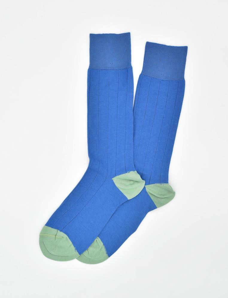 Pedigree Mid-Calf Solid: Socks - Blue
