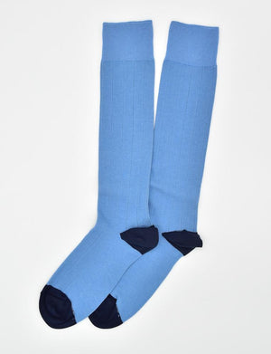 Pedigree Over the Calf Solid: Socks - Blue