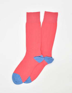Pedigree Mid-Calf Solid: Socks - Coral